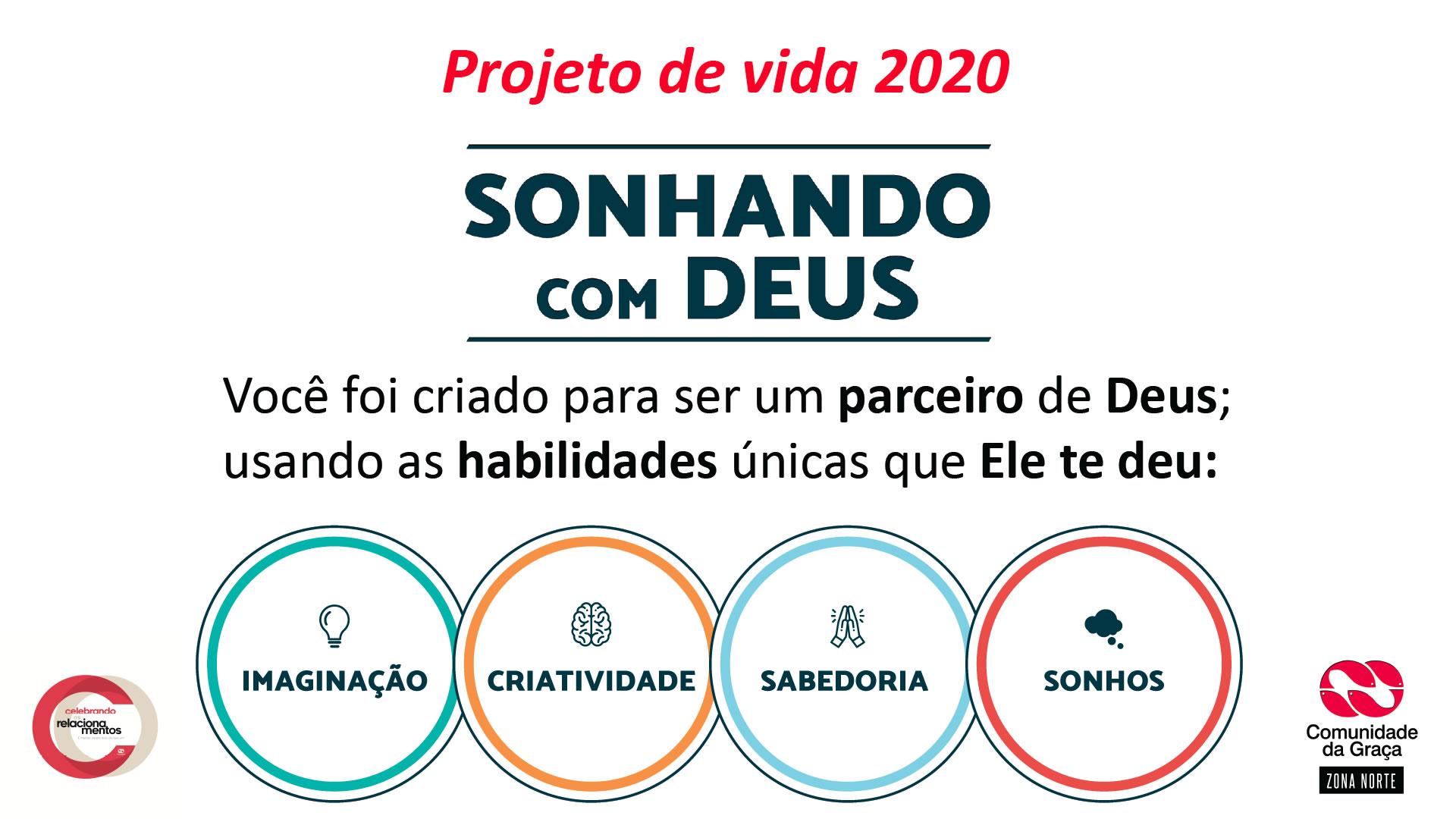 Slides do Culto – Projeto de Vida 2020 – Sonhando com Deus – Careira